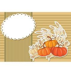 pumpkin sticker background vector image