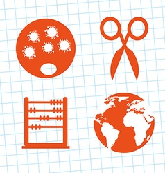 School elements design vector
