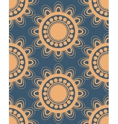 Seamless pattern in peach and blue vector