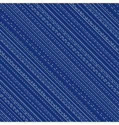 Seamless pattern with irregular stitch lines vector