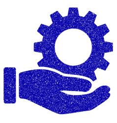 service gear icon grunge watermark vector image