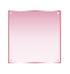 Sticker pink glass isolated object vector image vector image