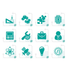 Stylized science and research icons vector