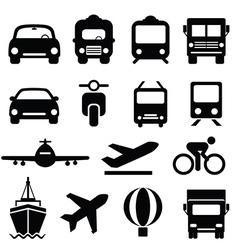 Transportation icons set vector