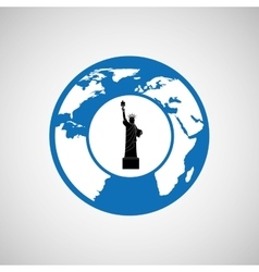 traveling world new york monument design graphic vector image