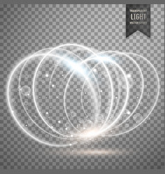 White light effect rings background vector