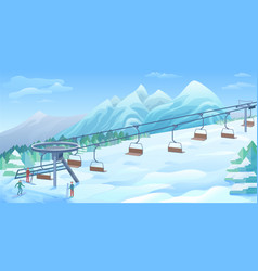 Winter outdoor resort background vector