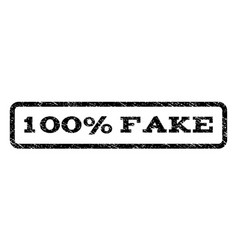 100 percent fake watermark stamp vector