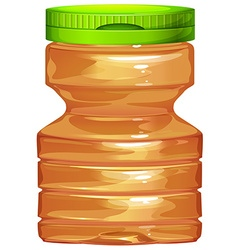 Plastic bottle with green lid vector