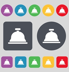 Dish with lid icon sign a set of 12 colored vector