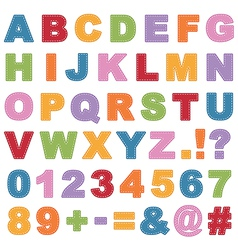 stitched alphabet vector image