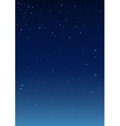 Night starry sky vertical background vector