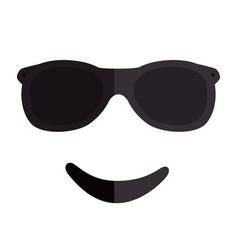 emoticon kawaii face icon vector image