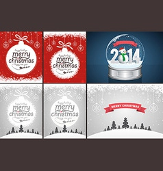 Christmas backgrounds and snow globe vector