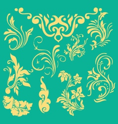Flourish border digital clip art vector