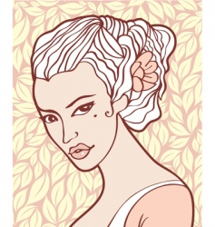 vintage beauty vector image