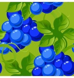 Seamless background with bright fresh jucy grapes vector