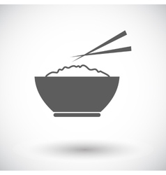 Rice icon vector