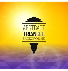 Abstract yellow sunset with purple triangle field vector
