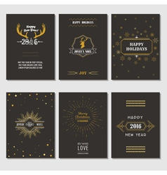 Christmas and New Year Cards - Art Deco Style vector image