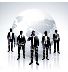 Global businessmen vector