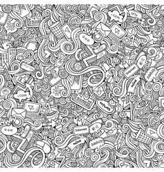 Cartoon hand-drawn doodles internet social vector