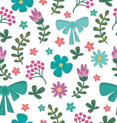 Floral seamless pattern with flowers and brunches vector