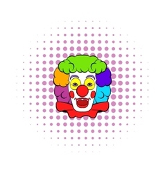 Clown icon comics style vector