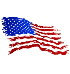 USA Flag grunge Art vector image