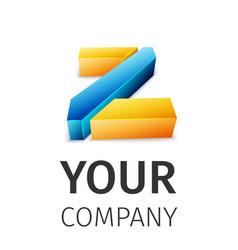 Abstract logo Z vector image