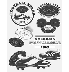 American football fantasy league labels emblems vector image