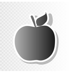 apple sign new year blackish vector image vector image