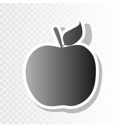 Apple sign new year blackish vector