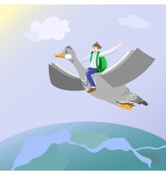 Back to Knowledge Flight vector image vector image