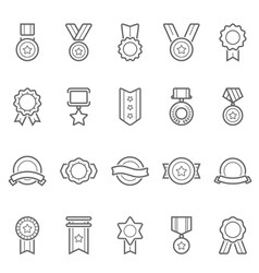 Badge awards icons set vector