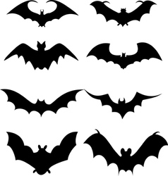 bat icons vector image