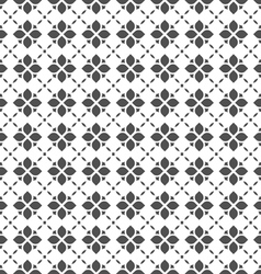 Black and white seamless flower pattern in vector image vector image