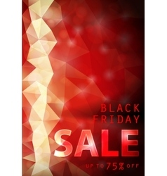 Black friday red background vector