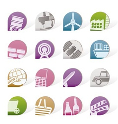 business and industry objects vector image vector image