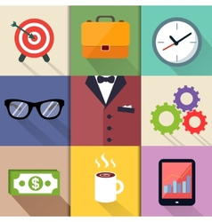 Business suits icons set vector