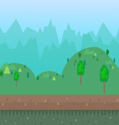 cartoon natural landscape vector image vector image