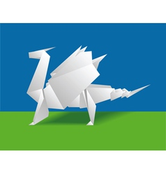 chinese paper dragon vector image
