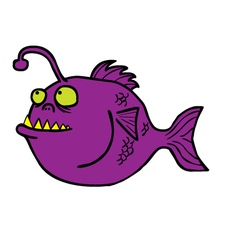 Fish Monster cartoon vector image