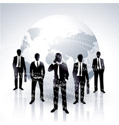 global businessmen vector image