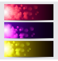 Glowing colorful christmas banners vector image
