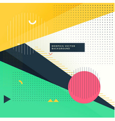 modern funky background in memphis style vector image