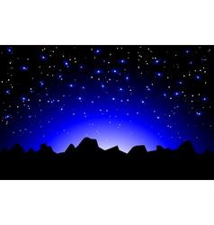 Night space landscape vector