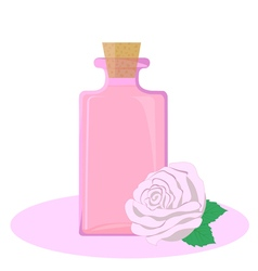 Rose essential oil vector