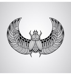 Scarab beetle tattoo style vector