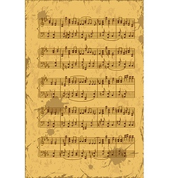 Sheet of music stave notes vector